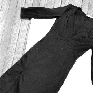 Charlotte Russe Long Sleeve V Neck LBD